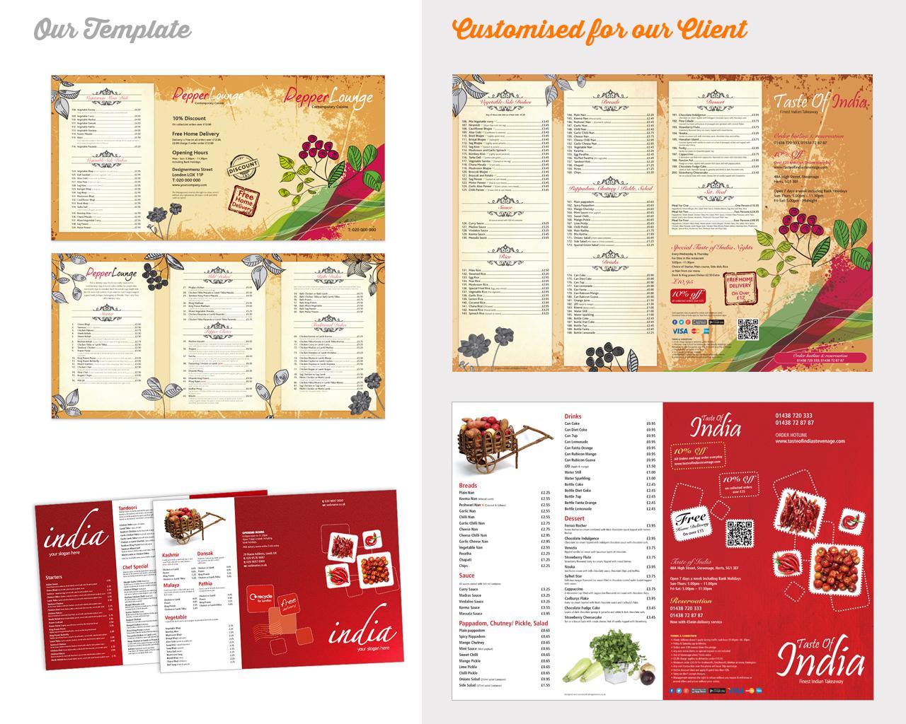 Indian Restaurant Menu Template Designs - | Blog
